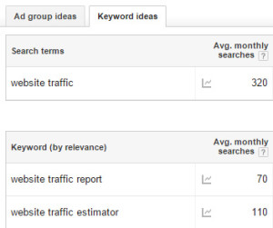 Use AdWords for Keyword Research