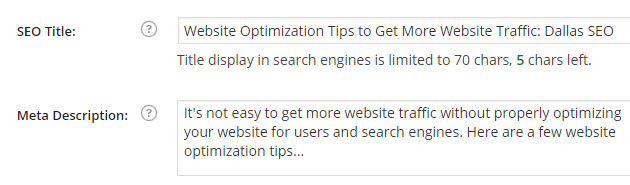 Title tag and Meta tag optimization is key to a increasing website traffic